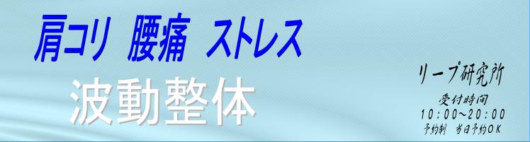 大田区 蒲田 雑色 南六郷  整体 マッサージ   リープ研究所